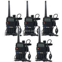 Hot selling 10 pack Dual Band Vhf Uhf Hands Baofeng uv-5r Licence Free Walkie Talkie Best Range 10km