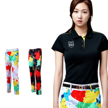 ladies brightly colored golf Pants