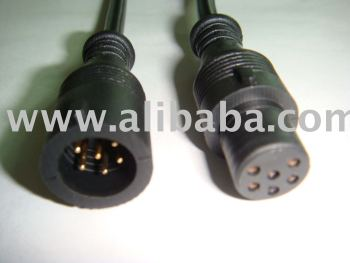 Waterproof electrical connectors with 6 pin