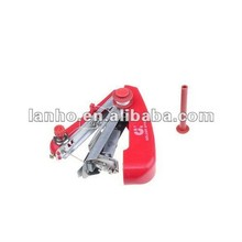 2014 New Red Mini Hand Held Handheld Portable Clothes Fabrics Sewing Machine
