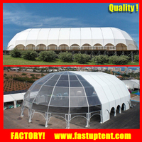 big Aluminum frame high quality luxury New Design dome polygon wedding tent
