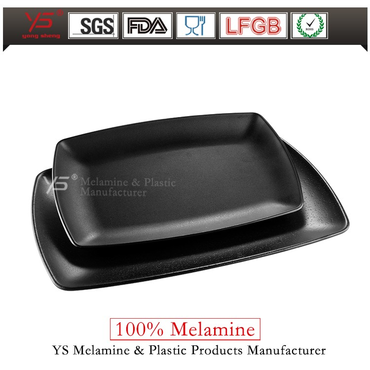 Trade assurance frosted plastic dish maker mono black plastic dish for serving