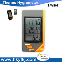 Mini Temperature Humidity Meter Desk Alarm Digital Thermo Hygrometer