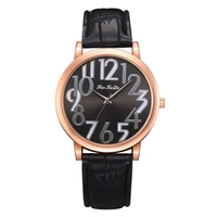 Top Brand Watches Women Sport PU Leather Strap Watch Rose Gold Digit Dial Summer Dress Clock Quartz Wristwatch