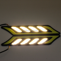 High Power 12V Flexible COB DRL With White and Amber Turn Light New Design Daytime Running Light Fog Lamp For Cars