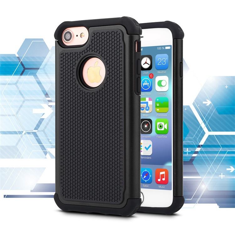 Factory Supply Ultra Thin TPU+PC+Silicon Protective Hybrid Armor Case Back Cover for iPhone 7