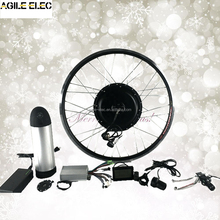 Electric Powered 1000W E-Bike Black Gearless Hub Motor Kit with LCD Dispaly