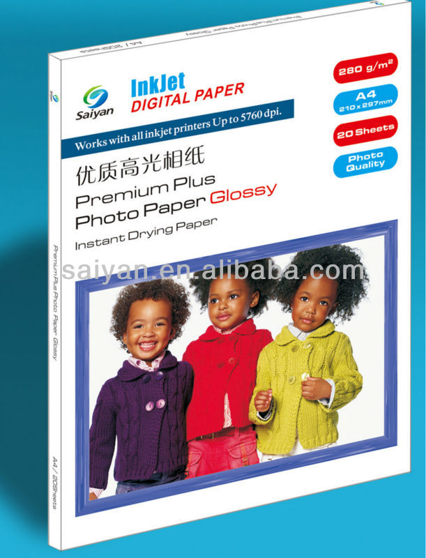 China manufature 280g RC glossy photo paper wholesale photo paper
