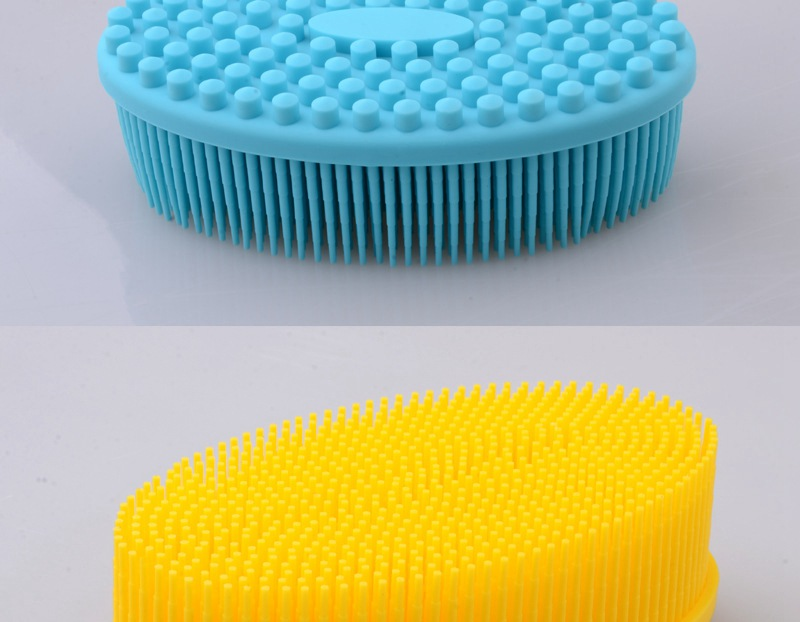 For Face & Body -Skin Health Beauty Care-Cellulite Treatment--Massaging Long Bristle 100% Shower Silicone Bath Brush