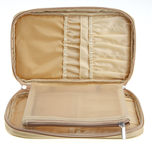 New products cosmetic case fashion portable golden makeup brush bag
