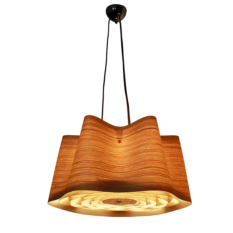 New Design <strong>Modern</strong> Wood Veneer Led Hanging Pendant Lighting Fixtures