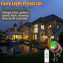 IP65 Waterproof Christmas Lights Red Green Outdoor Moving Star Laser Light Projector