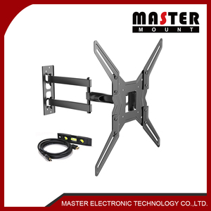 Full Motion TV Wall Mount Bracket For Most 32-55 Inch LED, LCD, OLED And Plasma Flat Panel Or Curved Tvs