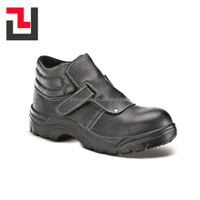 Outdoor new anti-static leather steel toe cap safety boots