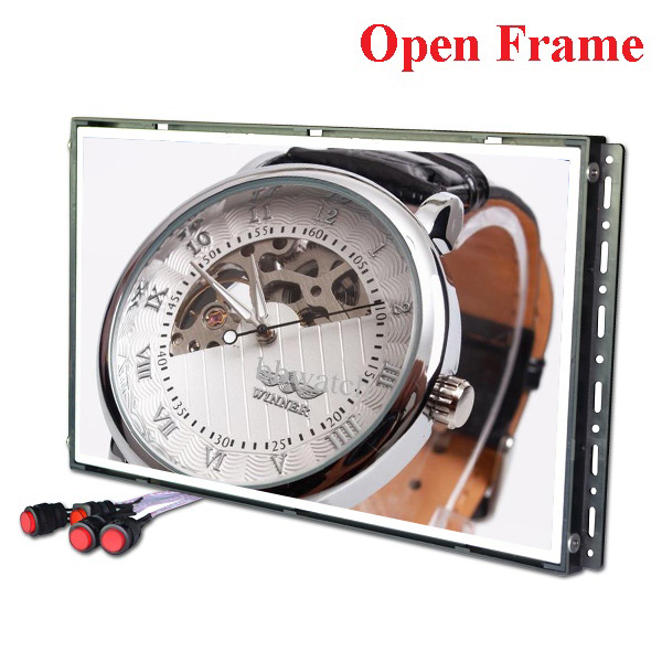 Plastic open frame advertising lcd player/lcd media player/standalone standing totem