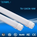 High brightness high quality PC cover aluminum housing 4ft 18w t8 led tube light