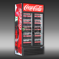 200 - 1600 LITERS DOUBLE GLASS DOOR DISPLAY BEVERAGE MERCHANDISERS