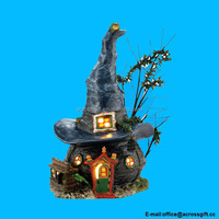 Polyresin Snow Halloween Toads and Frogs Witchcraft Haunt Lit House