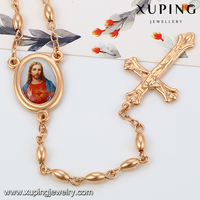 43061 Xuping jesus necklace novelties cheap goods from china jewelry necklace