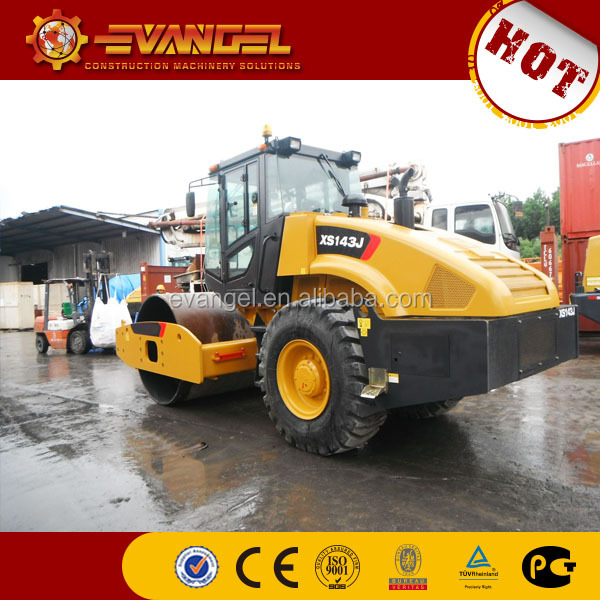 XCMG 14t  Single drum vibratory road roller XS143J for sale