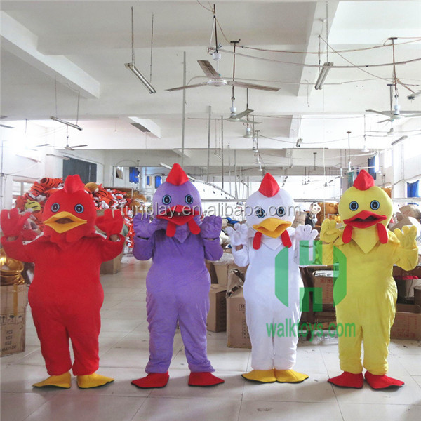 HI CE hottest new year 2017 toys make adult chicken head costume for sale