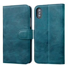 Kickstand slim wallet leather card holder phone case for iPhone X