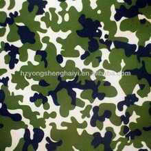 100% polyester fabric with military print coated with pu pvc