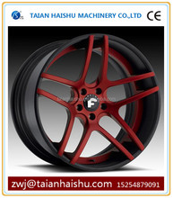 Car aluminum alloy wheel , 10,5,4,8 Hole and 16-20 Inch Diameter white with red alloy wheels