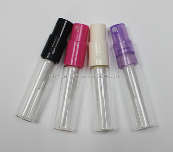 2017 Free samples glass perfume 2ml / 2ml spray / 2ml plastic bottle