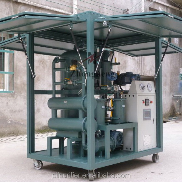 Trailer Mounted Mobile Waste Transformer Oil Purification Machine for 3 Phase Oil Filled Transformer