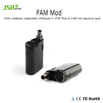Pam Mod!100% Authenic Adjustable 1000mAh 5~15w wax & CBD oil vaporizer mod