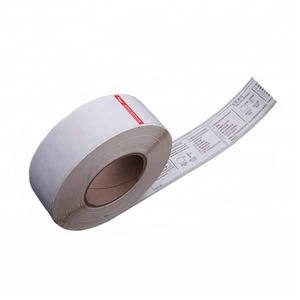 Thermal adhesive luggage sticker Auto blank roll labels Airline baggage tag