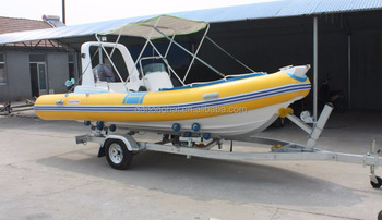 5.2m yellow fiberglass boat made in China with CE certification for water sport