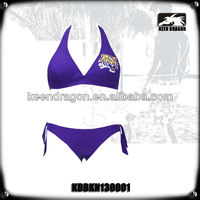 2014 New lady's purple fashion beachwear girls sexy fashion bikini
