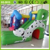 2014 New design pretty lovely used commercial cheap inflatable bouncy castle with slide