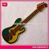 cheap promotional fashion custom antique brass guitar badge