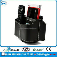 PU Leather 360 Degrees Rotatable custom color and size eco-friendly premium remote control holder