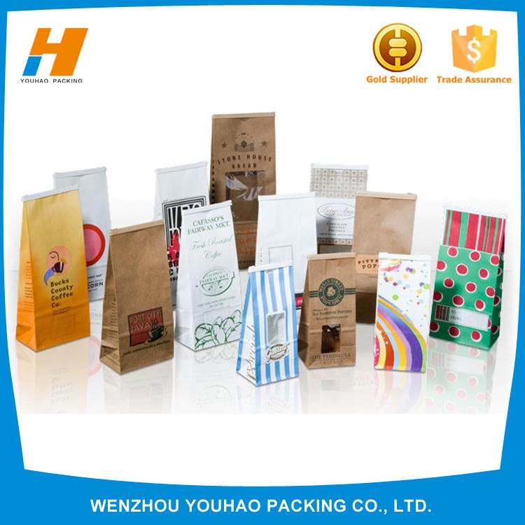 2016 New Products On China Market Kraft Paper Coffee Bags Wholesale