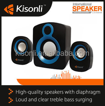 High Quality Mini Computer Speaker 2.1 Multimedia Laptop Computer Mini Stereo Portable USB Subwoofer Support AUX Input