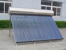 Electric Heating Element Stainless Steel Non Pressure ETC Solar Water Heater
