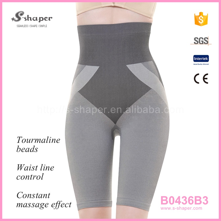 S - SHAPER Slim Hot Capri Pants Hot Body Shapers Tourmaline Bamboo Shorts B0436B3