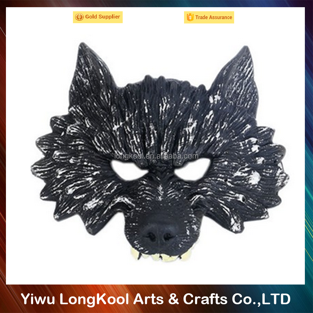 2016 Halloween decoration black wolf mask wholesale horror mask