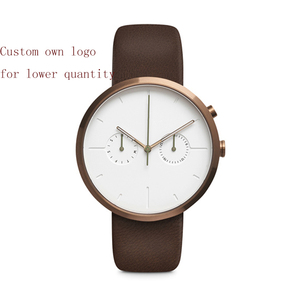 Gold Luxury Custom Logo Men Watches Own Brand Watches Male Reloj