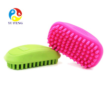 Pet Silicone Shampoo Brush Anti-skid Rubber Dog Cat Pet Mouse Hair Grooming Shower Bath Brush Massage Comb
