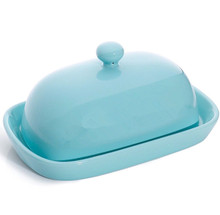 Wholesale Amazon market various size colorful ceramic butter dish with lid