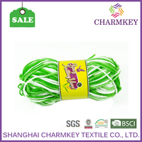 Bright candied colors 100 acrylic yarn fashion yarn wholesale with cheap price