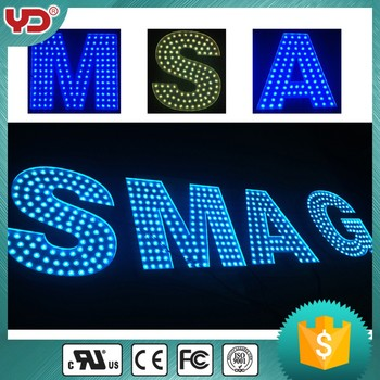IP68 big size outdoor sign letters billboard 90mm dot lighting