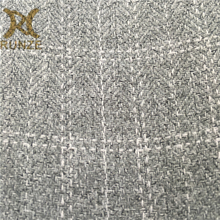 100% Polyester 850D Herringbone Fabric With Lattice Yarn Line Pattern For Sofa Curtain Imitation Hemp Cloth