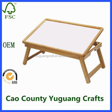 folding wood tray with handle used for breakfast bed and laptop bed tray