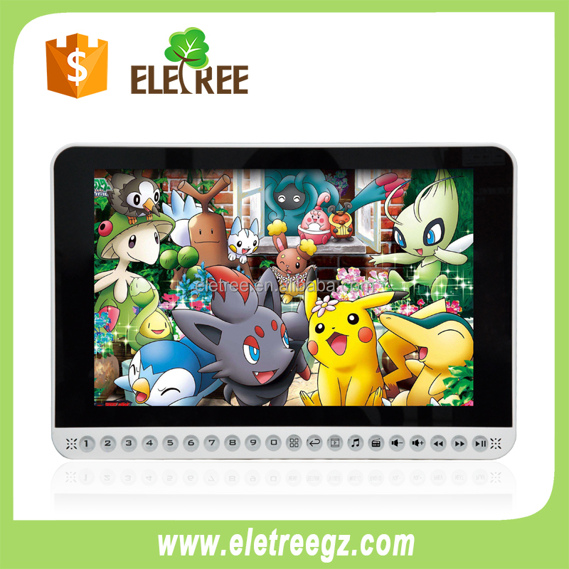 Guangzhou Eletree portable Large screen 20inch mp4 video dvd player with TV slot
